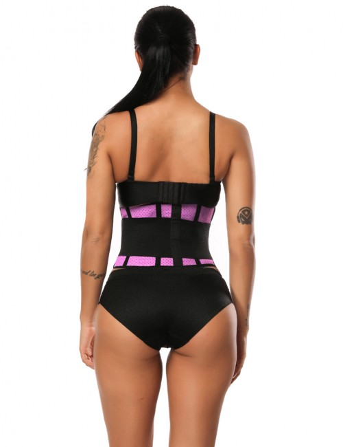 Contouring Plus Sensation Rose Red Latex Waist Slimming Belt Honeycomb Panel