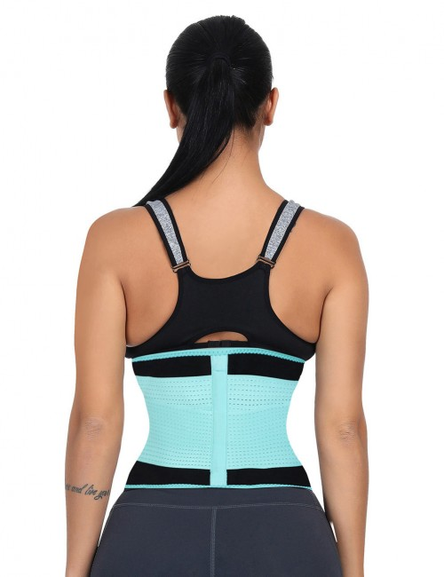 Light Blue Large Size SBR Embossing Waist Shaper Plastic Bone Fitted Curve
