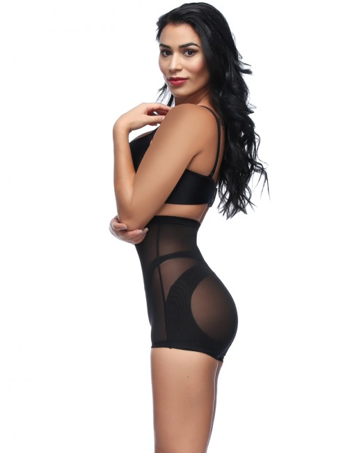 3 Magnetite Lace Hem Plus Black Size Booty Control Fitted Curve