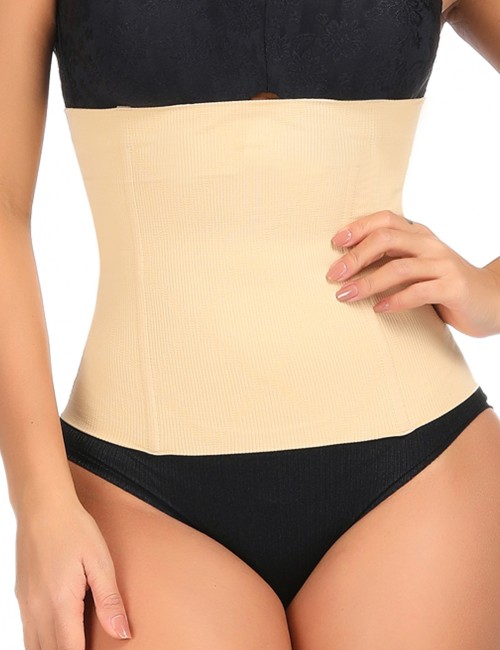 Nude Plastic Boned Waist Cincher Large Size Blood Circulation Boosting