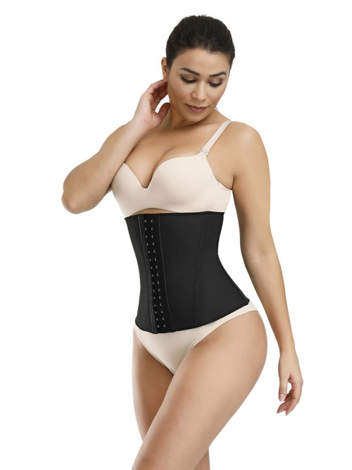 Black 9 Steel Bones Waist Cincher Solid Color Highest Compression