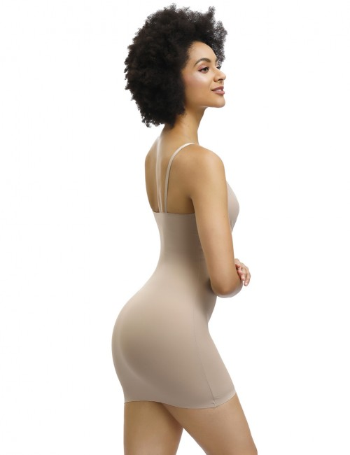 Hourglass Skin Adjustable Straps Plain Full Body Shaper Skirt Smoothlines