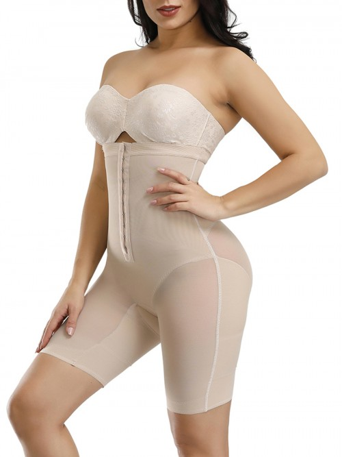 Ultimate Necessary Skin Color Hook Detachable Straps Full Body Shaper