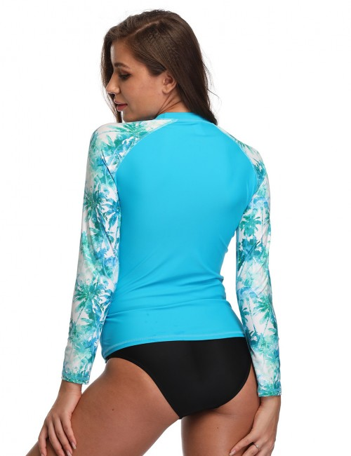 Stylish Blue Crew Neck Full Sleeves Running Shirt For Running