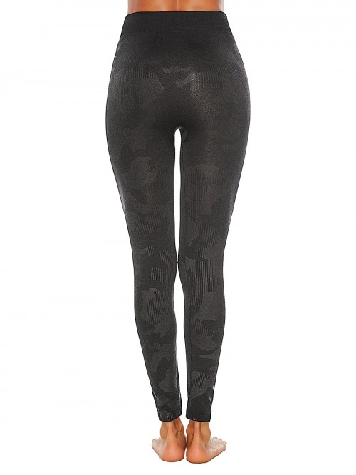 Exquisitely Camouflage Paint High Rise Sports Leggings Close-Fitting