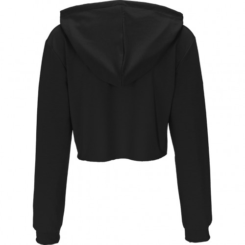 Fashion Lusty Crop Top Long Sleeve Sweatshirt Black Hooded