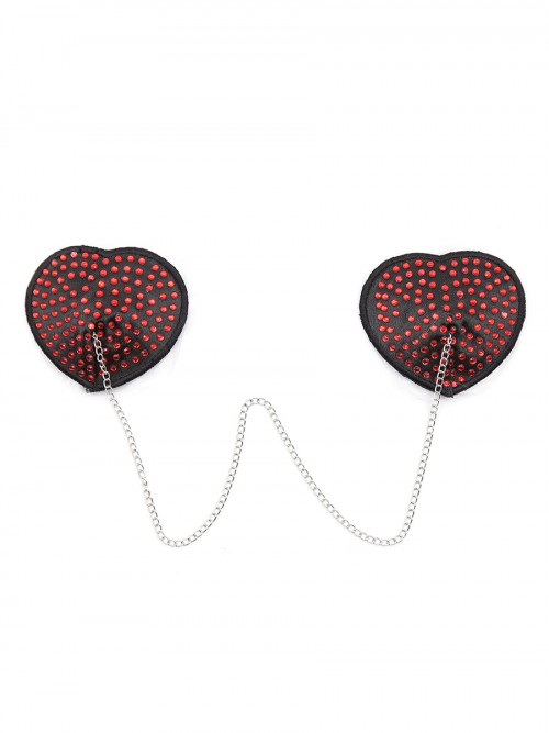 Ultra Sexy Red Heart-Shaped Silicone Nipple Cover Hot Trend