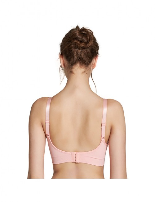 Pink Hooks Nursing Bras Ruched Front Allover Loose Fitted