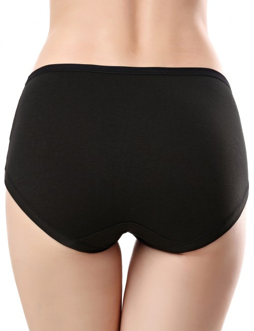 Multifunctional Black Front Cross Pregnant Panties Solid Color Skinny Woman