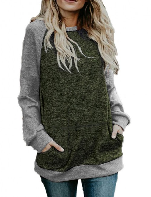 Picturesque Green Bat Raglan Sweatshirt Full Sleeve Fashion Online