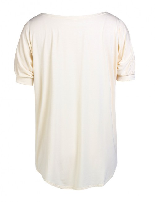 Apricot Scoop Neckline Shirts Short Sleeves For Hiking
