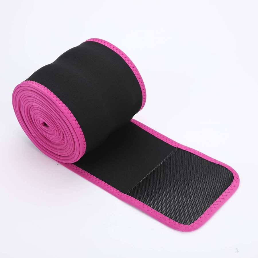 Rose Red Neoprene Weight Loss Waist Wrap Slimming Belly