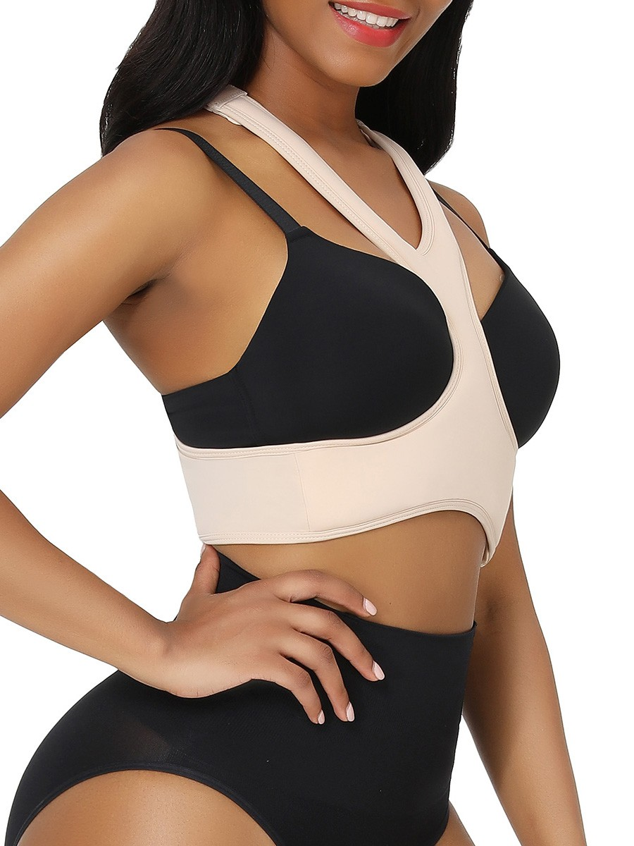 Skin Color Hooks Closure Solid Color Anti-Wrinkle Bra Soft-Touch