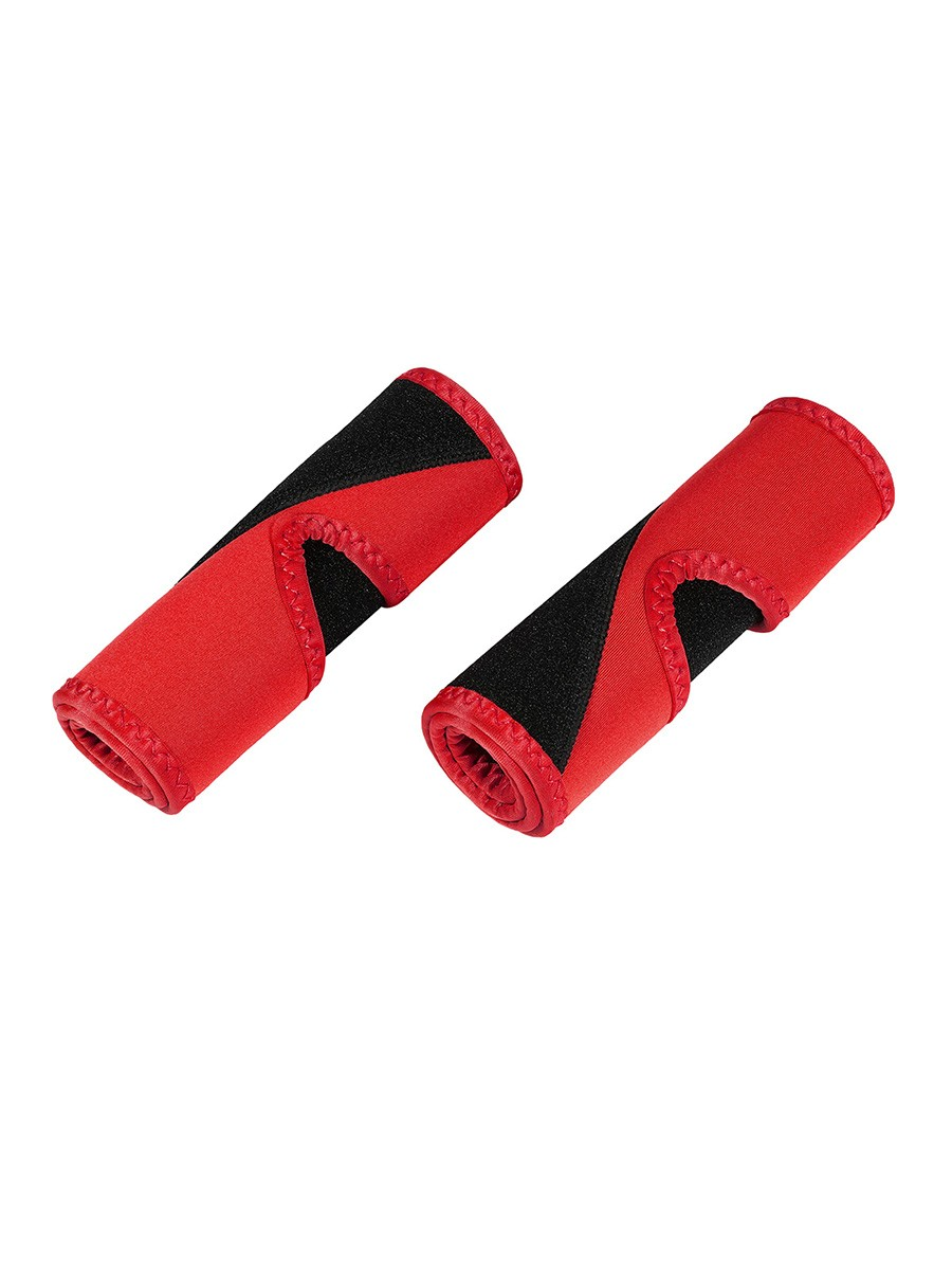 Red 2Pcs Colorblock Neoprene Arm Trimmers Calories Burning