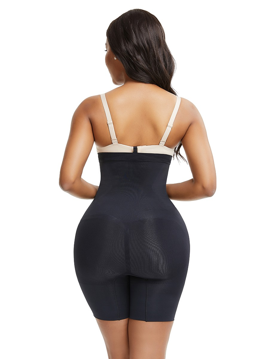 Must-Have Black Seamless Big Size Shapewear Pants Buckle For Beauty