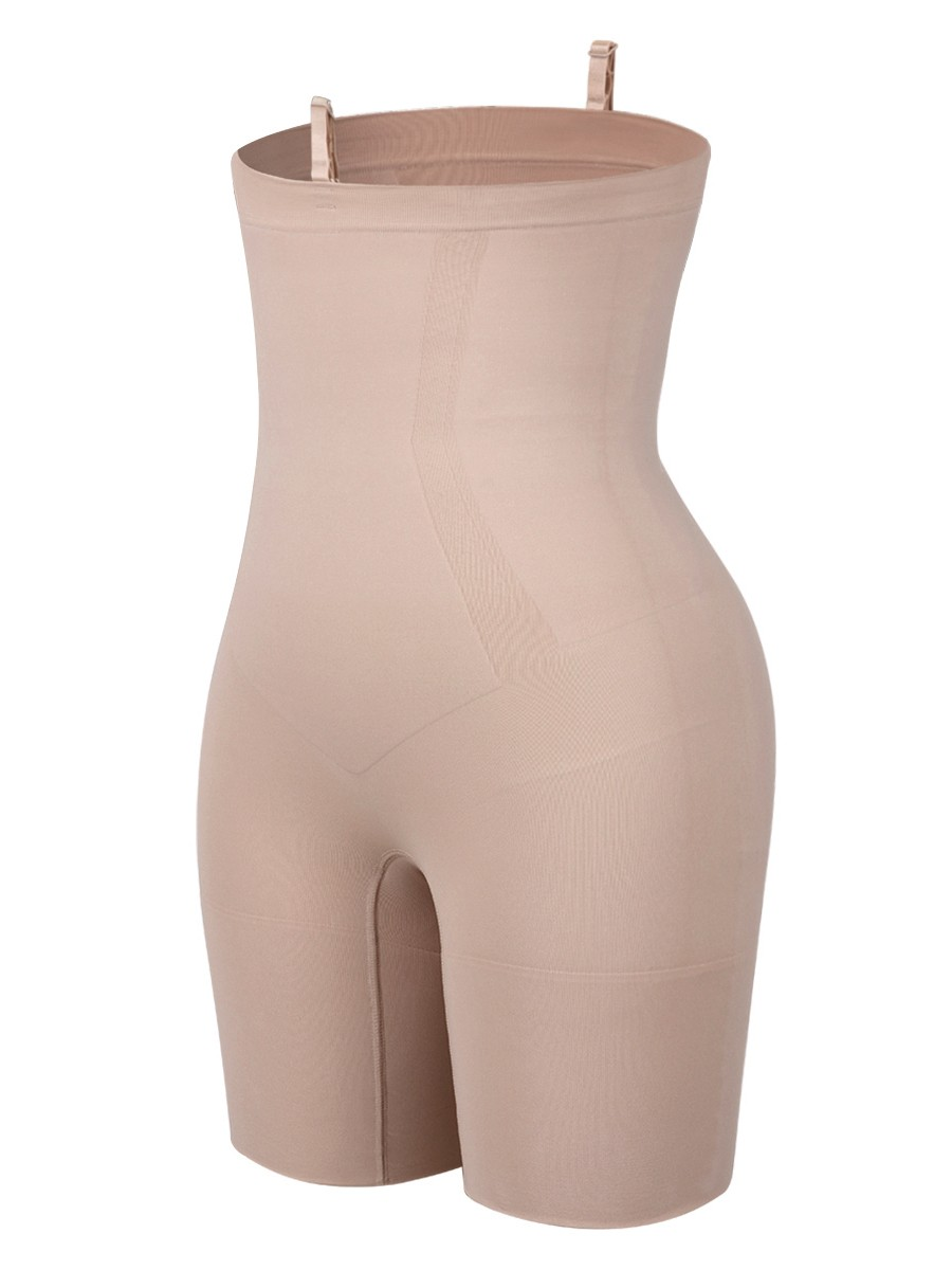 Slimming Skin Color Seamless Plus Size Buckle Shaper Panty Firm Foundations