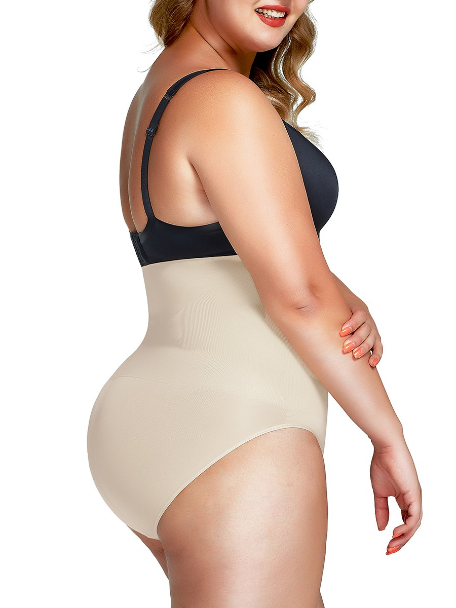 Skin Color High Cut Seamless Panty High Waist Slimming Belly