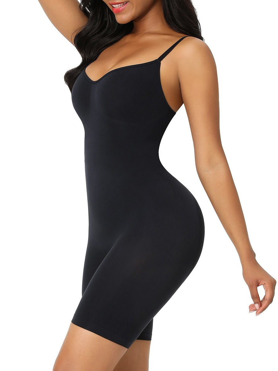 Black Seamless Plus Size Full Body Shaper Firm Compression