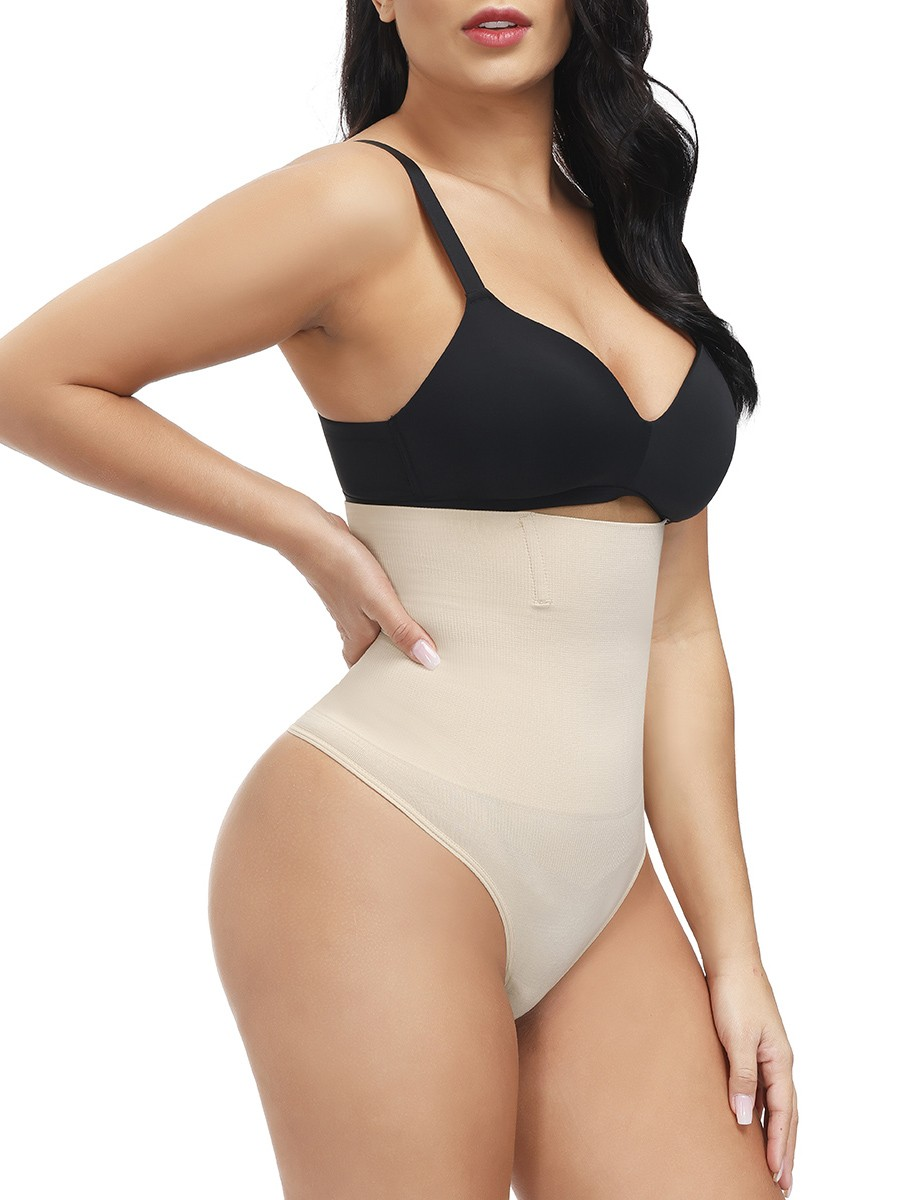 Skin Color Large Size High Waist Thong Shaper Natural Shaping
