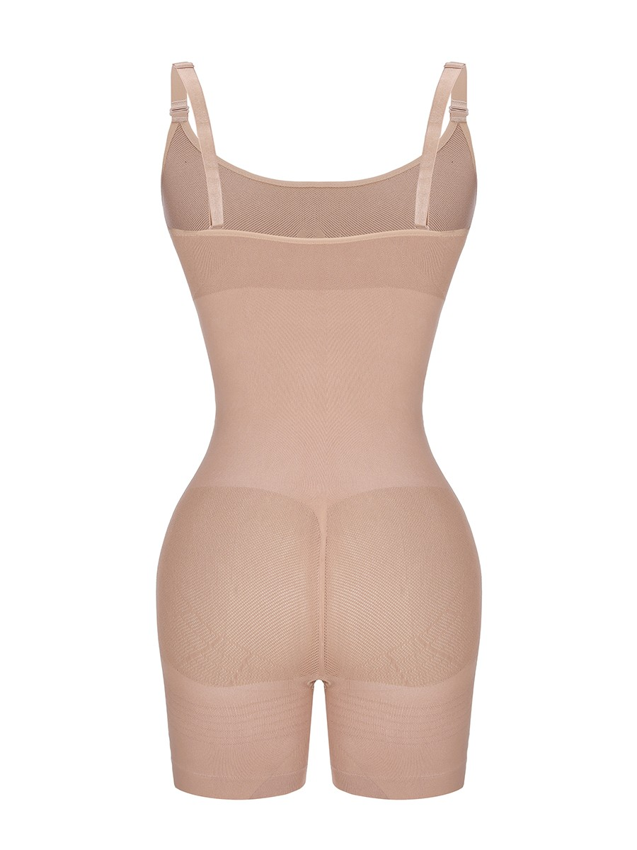 Skin Color Adjustable Straps Mesh Full Body Shaper Weight Loss