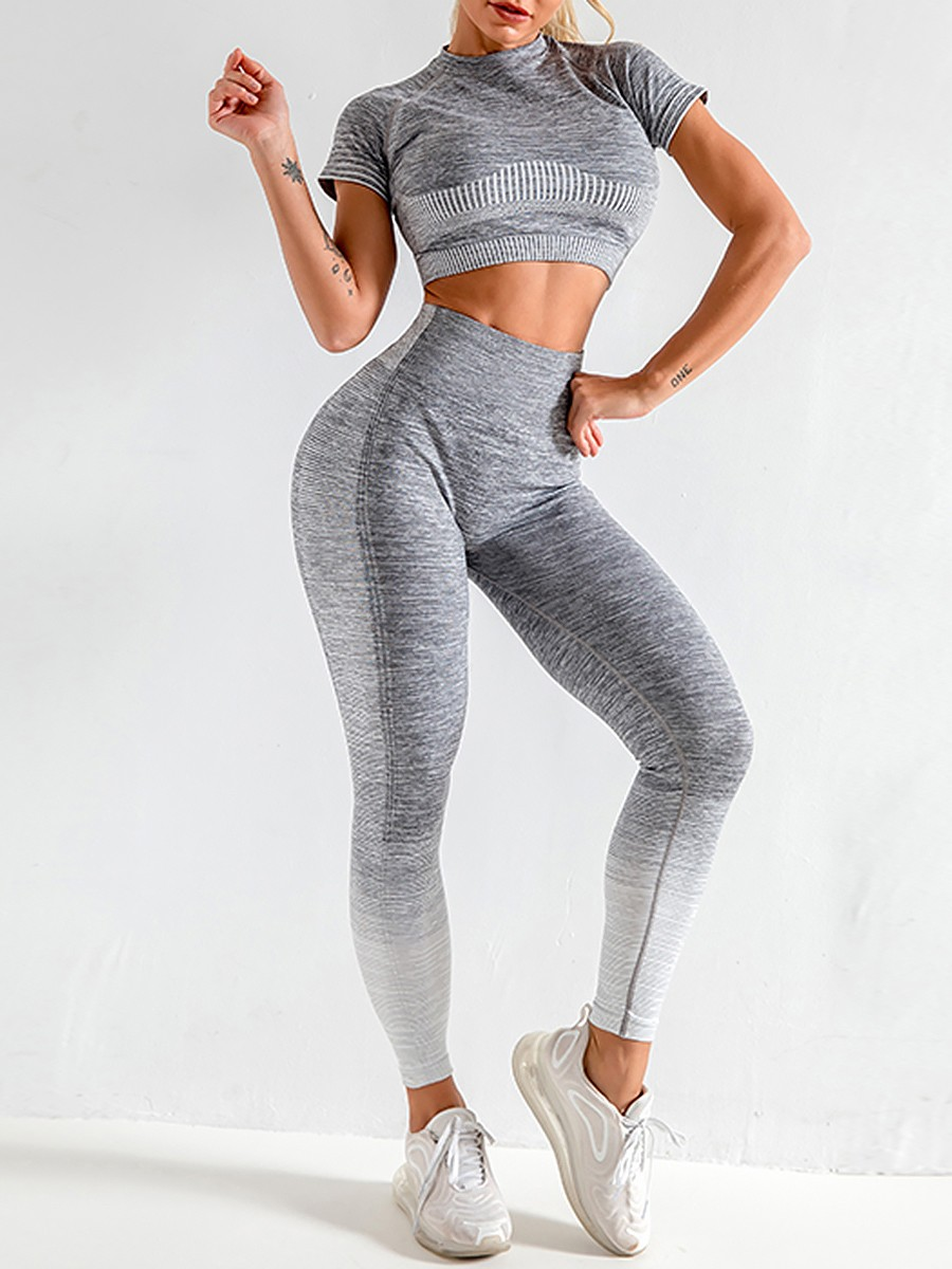 Best Design Gray High Stretch Full Length Sports Suit For Party