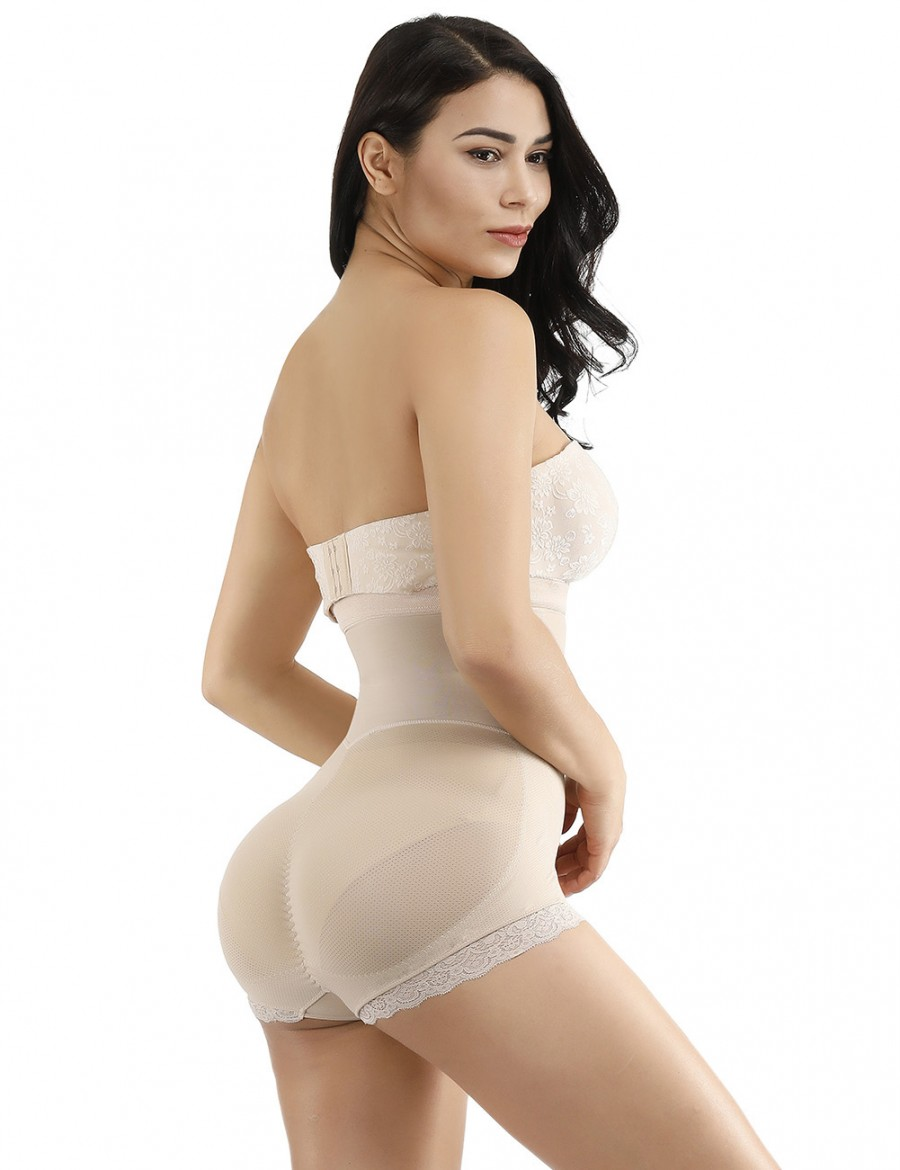Instant Shaping Nude High Waist Big Size Adjustable Straps Body Shaper