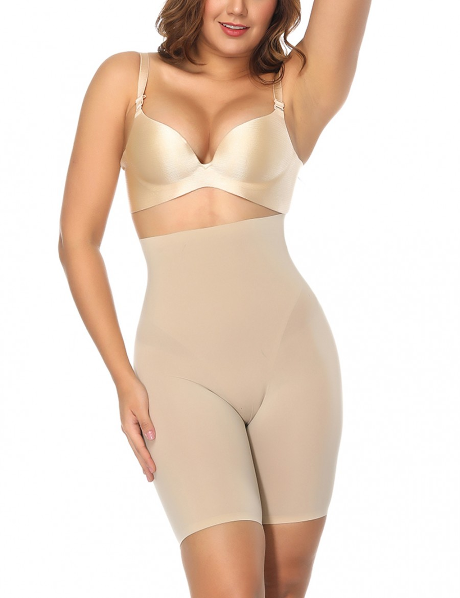 Nude Butt Lift Britches Slimming Mid-Thigh High Rise Fat Burning