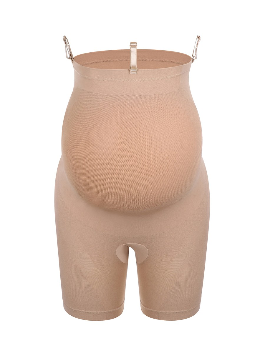 Practical Skin Color Belly Support Shaper Buckle Seamless