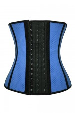 Breathable Summer Blue Corset Latex Waist Trainer For Women