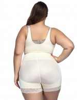 Tight Nude Zip Hooks Latex Big Size Open Crotch Body Shaper Comfort