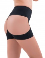 Contour Black Open Butt Lift Plus Panty Boyshort Comfort