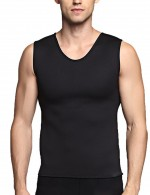 Big Seamless Men Neoprene Black Shaping Vest Sweat Burner