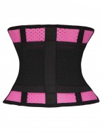 Fashionable Rose Red Plus Latex Waist Slimming Belt Honeycomb Panel Slimmer