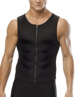 Sleek Smoothers Mens Neoprene Vest Shaper Plus Size Fitted Curve