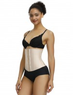 Smoothing Skin Color Waist Cincher Latex 13 Steel Boned Smooth Abdomen