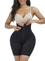 Medium Control Black High Waist Panty Shaper With Pads For Workout