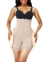 Skin Color Adjustable Straps Open Crotch Body Shaper Calories Burning