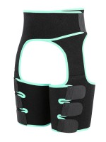 Light Green Sticker Cut Out Patchwork Thigh Trainer Midsection Control