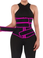 Body Trimmer Rose Red Neoprene Waist Trainer 10 Steel Bones