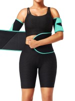 Light Green Neoprene Color Block Waist Trainer Best Tummy