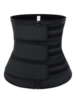 Higher Power Black Three Belts Latex Waist Trainer Big Size
