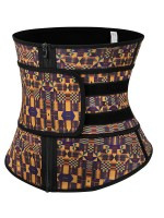Miracle Zipper African Printing Latex Waist Trainer Slim Waist