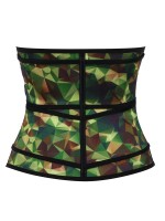 Camo Latex Double Belts Waist Trainer Slimming Tummy