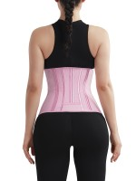 Ultimate Necessary Pink 4 Rows Hook Waist Cincher Three-Layer