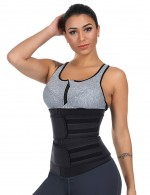 Compression Black Big Size Latex Waist Slimmer With Sticker Fat Burner