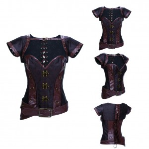 Retro and Fashion Overbust Corset With Jacket