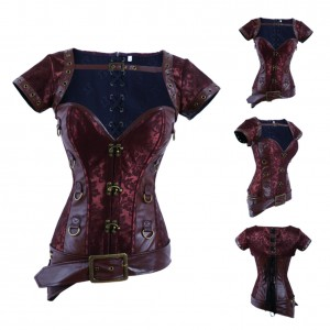 Cool Brown Warrior Corset