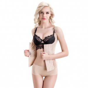 Nude Buckle Under Waist Training Corset Strap Lace Shapewear For Women