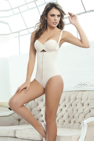 Nude Strappy Zipper Body Shaperwear