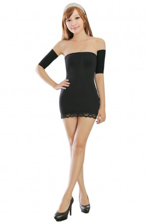 Black Polyester Arm Slimming Shaper